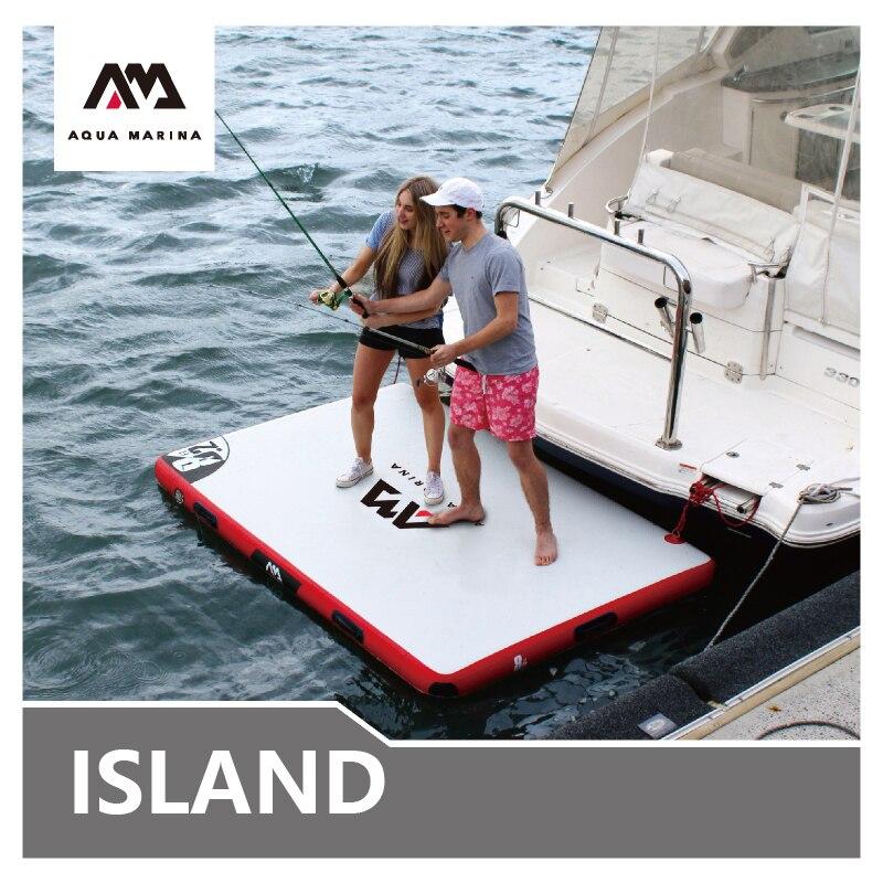 AQUA MARINA ISLAND 250*160*15cm Inflatable Floating Board Fishing Working Rest Platform