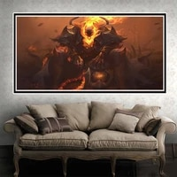 Animation peinture a lhuile colere ox demon roi art toile peinture salon couloir bureau decoration murale