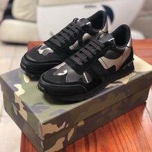 2020 la nouvelle marque de luxe de espadrilles décontractées à la mode en cuir chaussures de sport pour hommes et chaussures décontractées pour les femmes