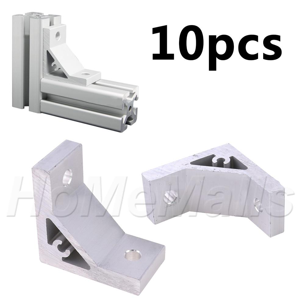 10 قطعة مفصل زاوية بين قوسين الثقيلة 90 درجة موصل السحابة للألومنيوم الصناعي مقذوف الشخصي 20s 30s 40s 45s