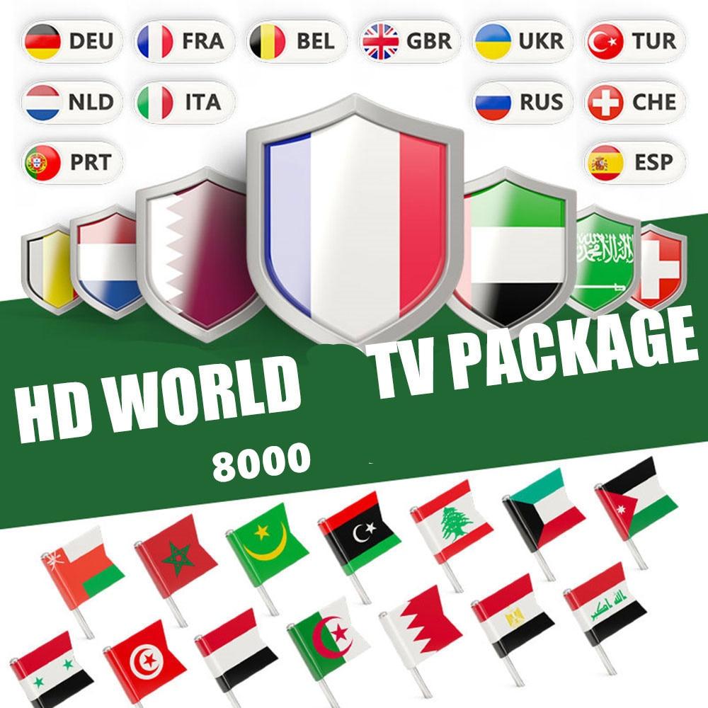 IPTV World HD M3U para Portugal, España, EX-YU, Italia, Estados Unidos, Iptv holandés inteligente para Android TV Box X96 Max H96 Xtream