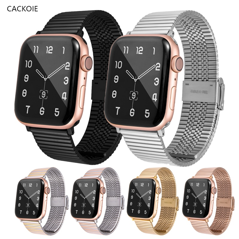 Bracelet For Apple Watch Band6 5 4 3 2 1 44mm/42mm/40mm/38mm Metal Stainless Steel Watchband Strap for iWatch Series Accessories