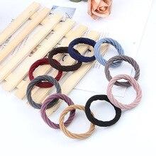 10pcs lot Women Girls Simple Basic Elastic Hair Bands Tie Gum Scrunchie Ponytail Holder Rubber Bands