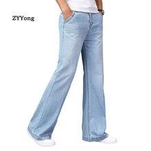 Homme Flare jean pantalon cloche bas bleu noir ample grande taille classique mode décontracté botte coupe évasée Denim pantalon
