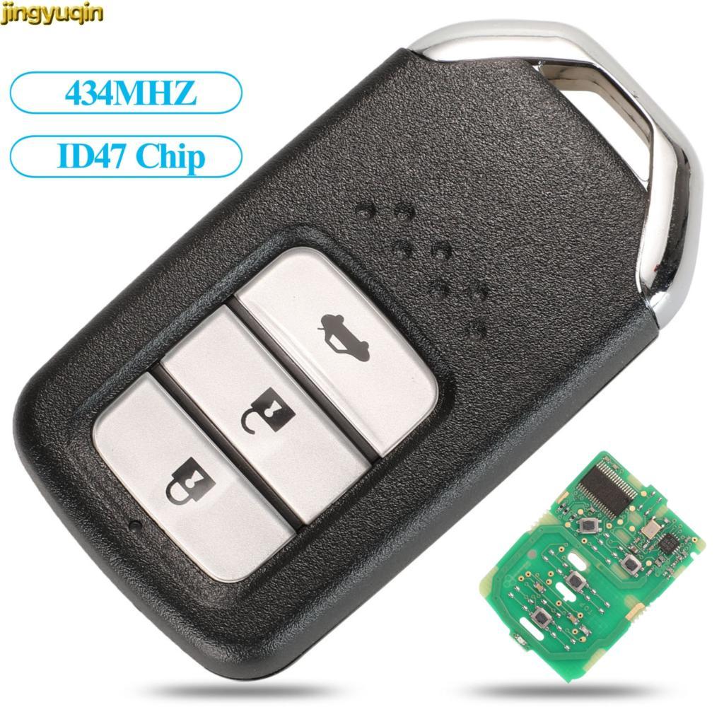 Jingyuqin 2/3/4 BTN FSK Smart Remote-Auto Schlüssel 434MHZ ID47 PCF7938 Chip Für Honda Greiz Fit City Jazz XRV venzel HRV CRV