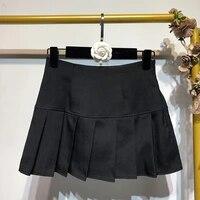 sexy white micro skirt ladies korean style summer miniskirt y2k egirl hot skirt accessory pleated high waist mini skirt women
