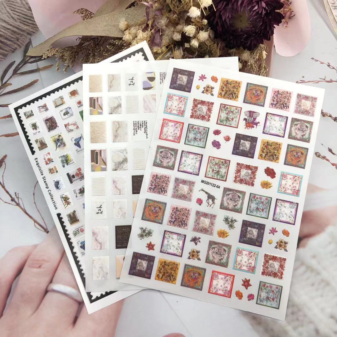 3D Nail Sticker Stamp Sticker Design DIY Tips Nail Art Decoration Packaging Self-adhesive Transfer Decal Slider