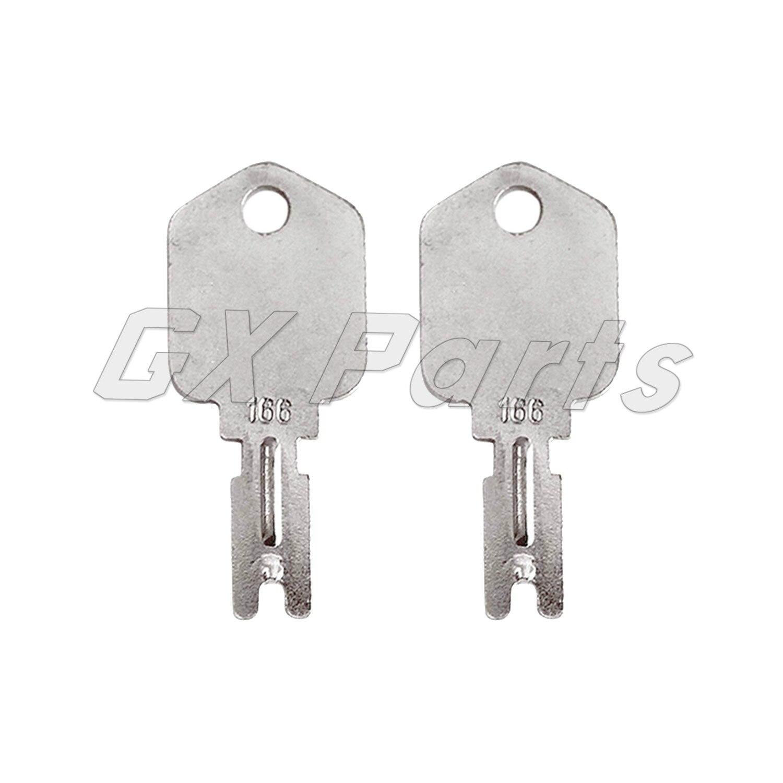 2 pces 1430 empilhadeira chave pesada equipamento chave de ignição para empilhadeira caterpillar 6t-2663 genérico 166 hyster 186304