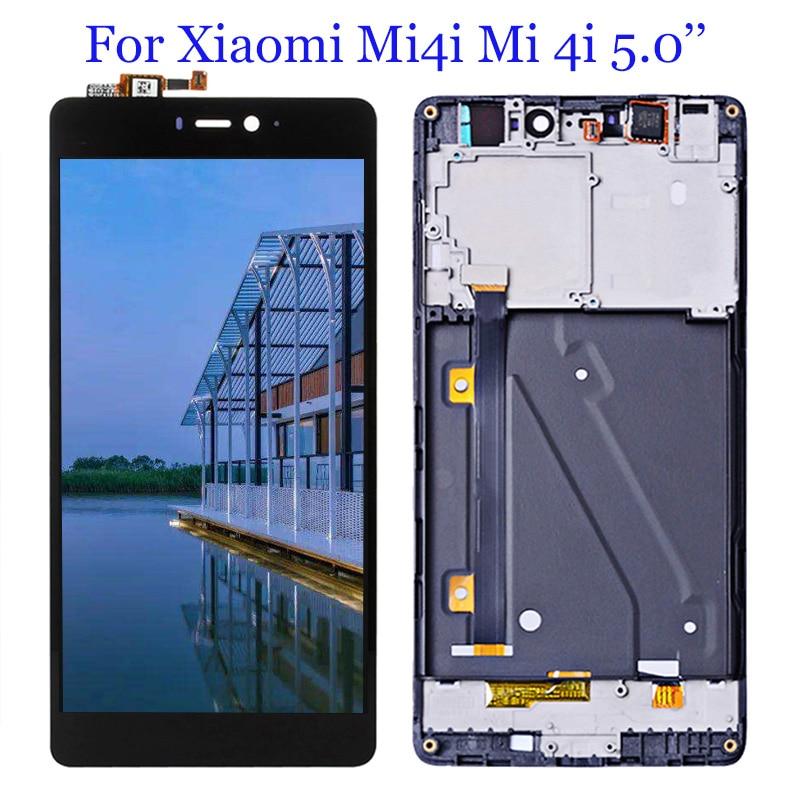 Pantalla LCD digitalizadora para Xiaomi Mi4i Mi 4i, Panel táctil, montaje de Sensor de cristal, pantalla LCD Mi4i 1920*1080