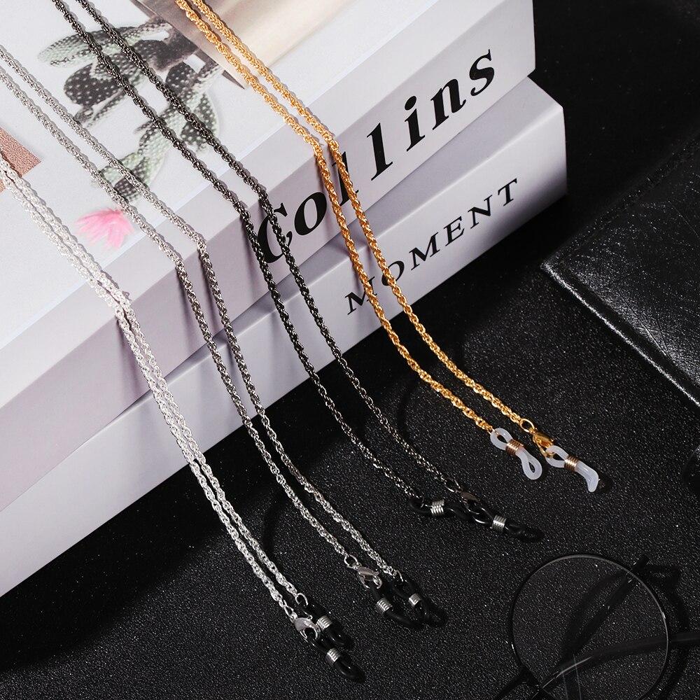 1 Pza 60cm Metal gafas Correa cordón gafas cadena cordón para gafas de lectura soporte cuello correas cuerda gafas de sol accesorios regalo