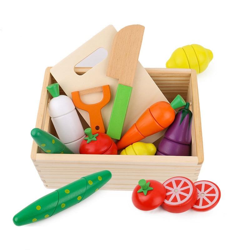 Детские деревянные фрукты, фрукты, овощи и фрукты, когнитивные игрушки