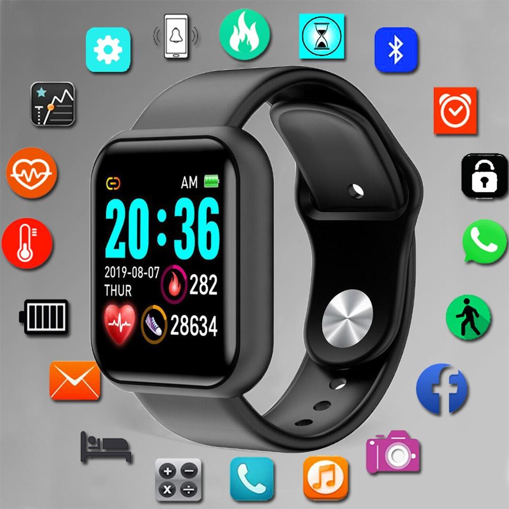 Reloj inteligente TOLASI D20 Pro para hombre, pulsera deportiva con Bluetooth, monitor de conteo de presión arterial, ritmo cardíaco, rastreador de pulsera de Fitness