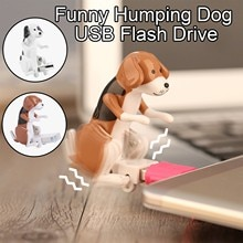 32GB/64GB Funny Humping Dog USB Flash Drive Dog Swing Buttock When Using Novelty USB 2.0 Cute Cartoo