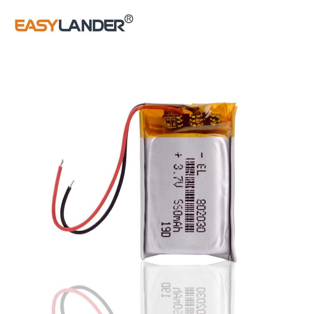 802030 550 мАч 3,7 в литий-полимерная батарея MP3 MP4 MP5 литий-ионные массажные батареи сменные в neoline evo z1 Автоматическая Регистрация