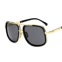 Fashion Brand Design New Sunglasses Women Men Flat Top Square Luxury Sun Glasses Vintage UV400 Sungl