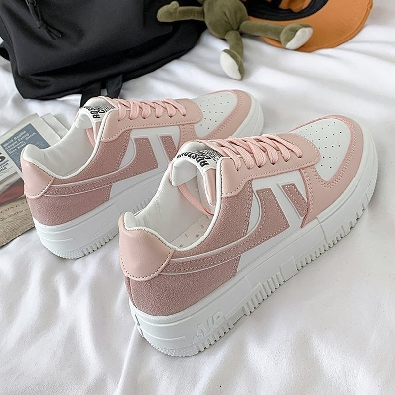 Zapatillas deportivas informales para mujer, calzado deportivo femenino para caminar, Color sólido,...