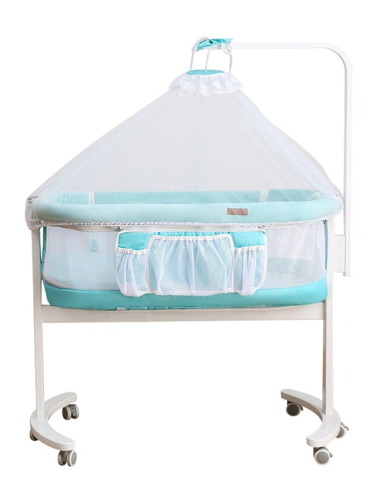 Crib Joint Baby Bed Newborn European Style Portable Multi-Functional Babies Movable Primary