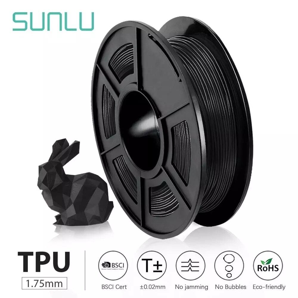 Flexível com Cor Flexível de Faça 1.75mm para o Presente ou o Navio de Impressão Modelo com 5 Sunlu Filamento Completa Você Mesmo Peças Tpu 0.5kg