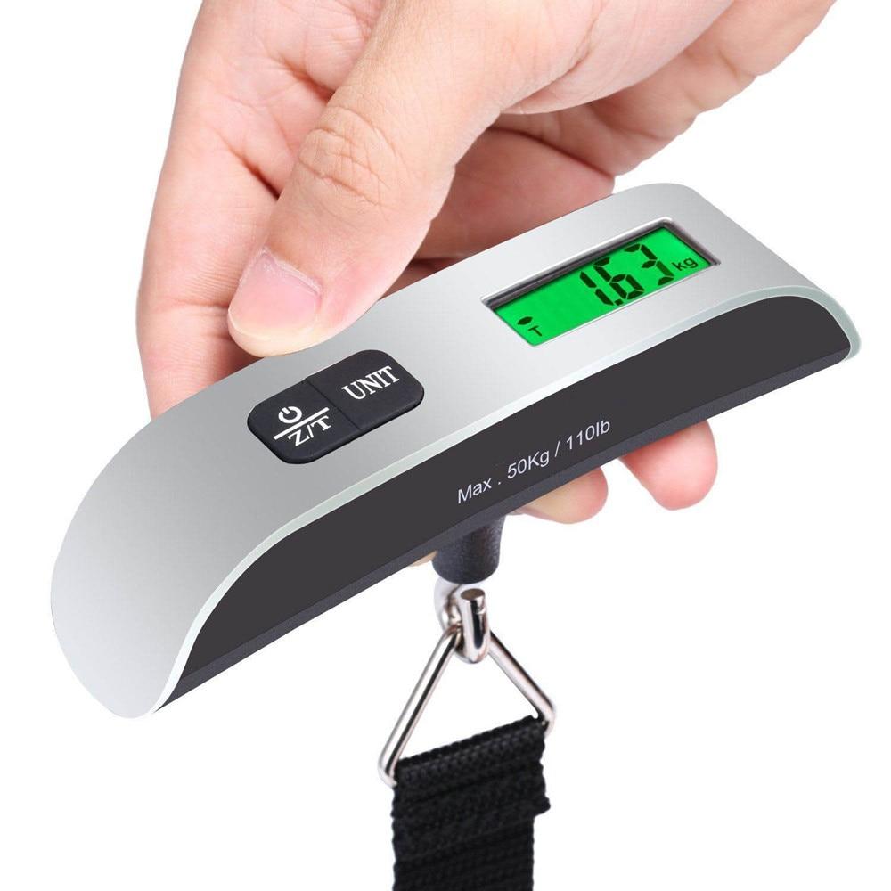 50Kg X 10G Digitale Bagage Schaal Draagbare Elektronische Weegschaal Gewicht Balans Koffer Reizen Opknoping Steelyard Haak Schaal Hot koop #