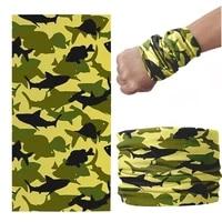 camouflage series scarf men motorcycle headband neck gaiter magic seamless tubular headdress sunscreen dustproof cover bandana