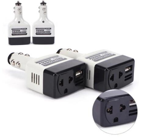 USB автомобильный преобразователь питания DC 12/24V to AC 220V автомобильный инвертор для всех инверторов телефона 12v