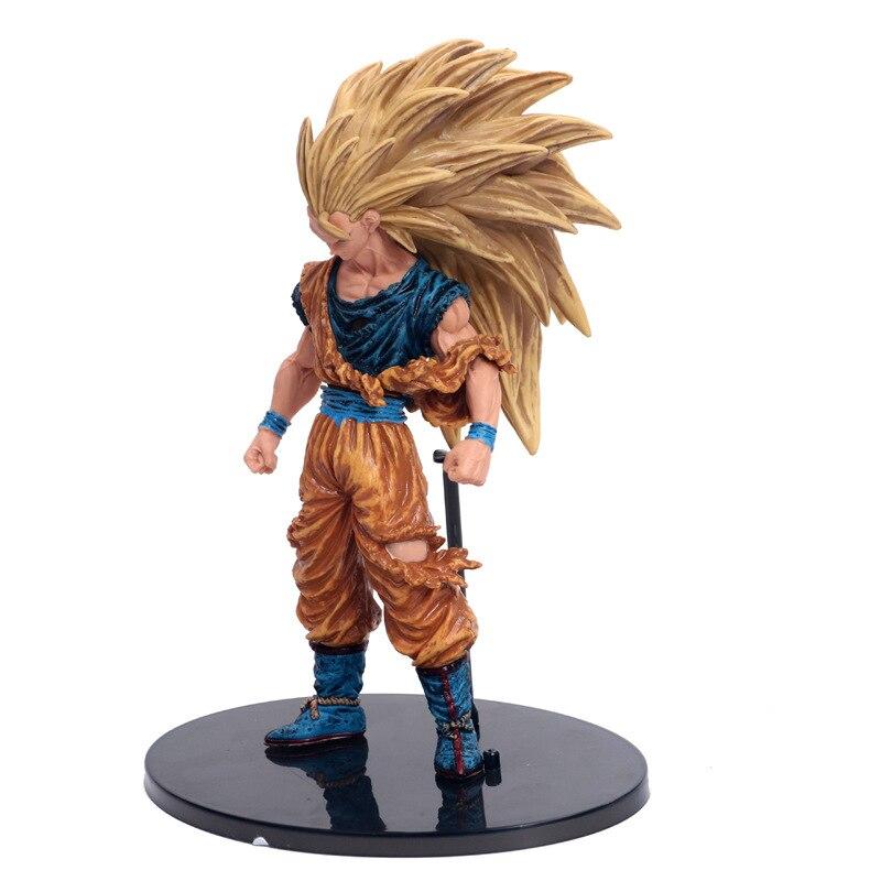Dragon Ball Z Tenkaichi Budokai Súper Saiyajin 3 daños de batalla edición hijo de Goku figura de acción esfera juguetes de Kakarotto
