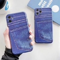 for iphone 11 pro max case fashion blue jeans for iphone xr 7 8 plus x luxury protect silicone cover 11 11pro xs max se 2020