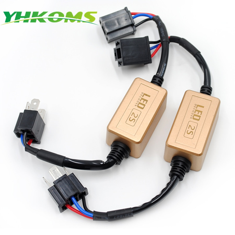 Decodificador LED Uttril H4 H7 Canbus H1 H3 9005 H 9006 H8 H11 sin errores para la advertencia del faro del coche LED cancelador No parpadeo