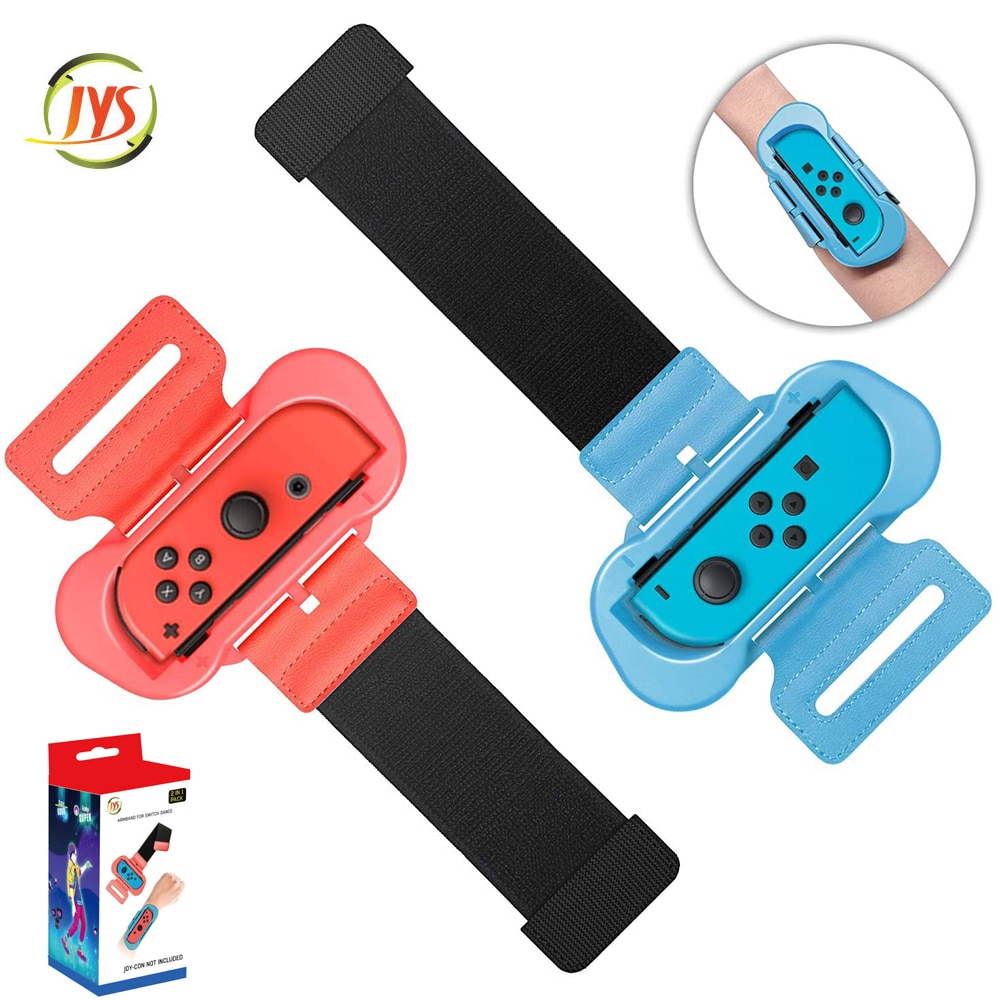 Wrist Bands for Just Dance and Zumba Burn It Up for Nintendo Switch Controller Game, Adjustable Elastic Strap for NS Joy-con