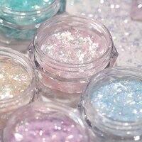 2021 opal flake glitter 6colors polarized manicure ultra thin sequins powder brocade snow velvet powder opal nail glitter h