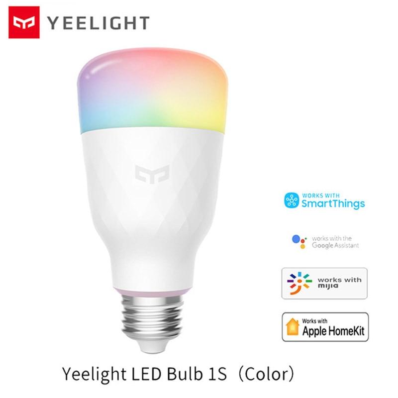 Xiaomi Yeelight 1S bombilla colorida E27 WIFI Control remoto LED inteligente lámpara de temperatura colorida para xiaomi mijia MI aplicación de hogar