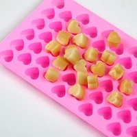 silicone 55 even small heart mold chocolate mousse cake donut ice cube fondant cookies mould cake decorating kitchen accessories
