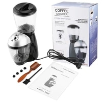 professional home coffee grinder electric grinding machine equipped with 420 stainless steel grinding disk coffee maker 220 240v
