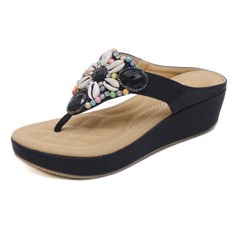 Летние женские тапочки, женские сандалии, пляжная обувь, женские сандалии на танкетке, удобная женская обувь
