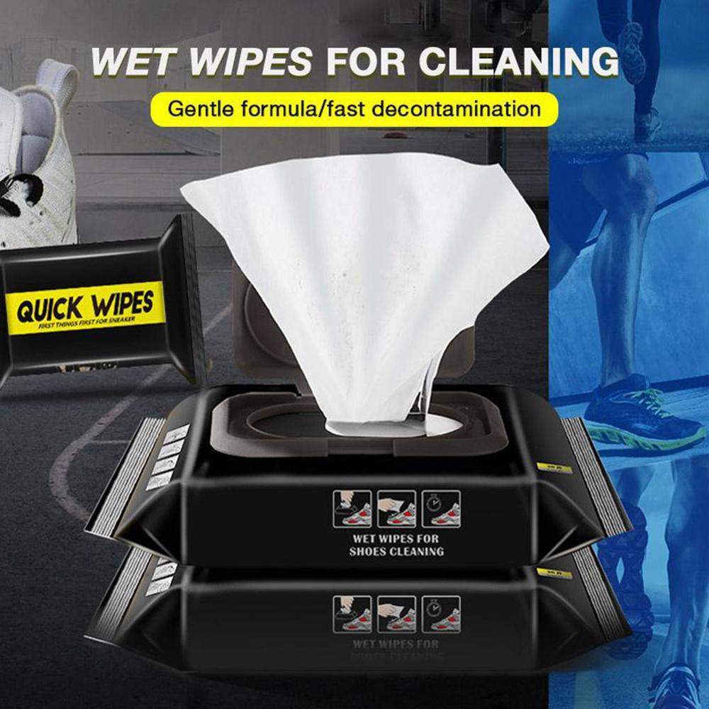 30 pieces of white shoe cleaning wet wipes travel portable disposable sports shoes cleaning quick wipes quick wipes недорого