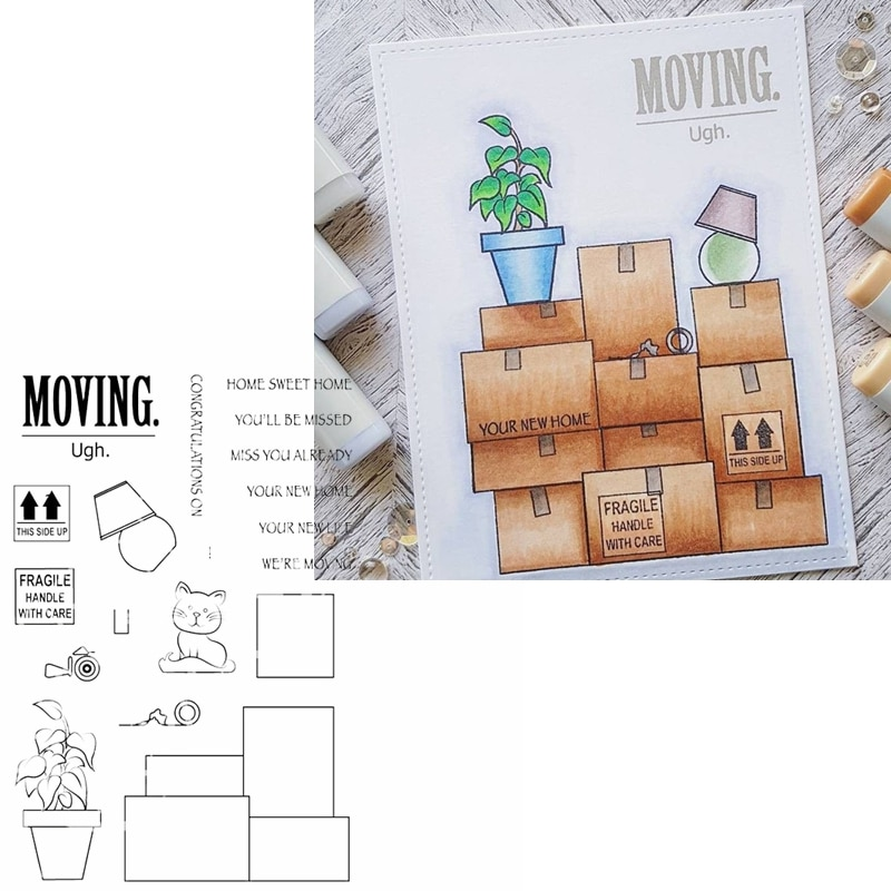 Casa doce casa clara selos frases sobre mover silicone selo transparente 2020