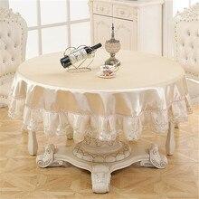 Nappe en dentelle brodée de grande taille   Nappe de fleurs romantiques résistante à lhuile, tapis dextérieur, vêtements de mariage