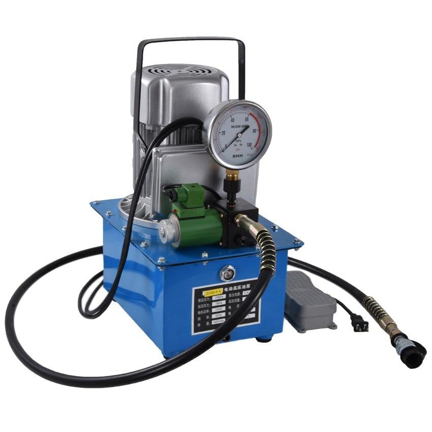 ZCB6-5-A عالية الجهد مضخة كهربائية Pydraulic مضخة المكبس مضخة 220 فولت/380 فولت 0.75KW 70MPA 7 L (نوع دواسة-مع صمام الملف اللولبي)