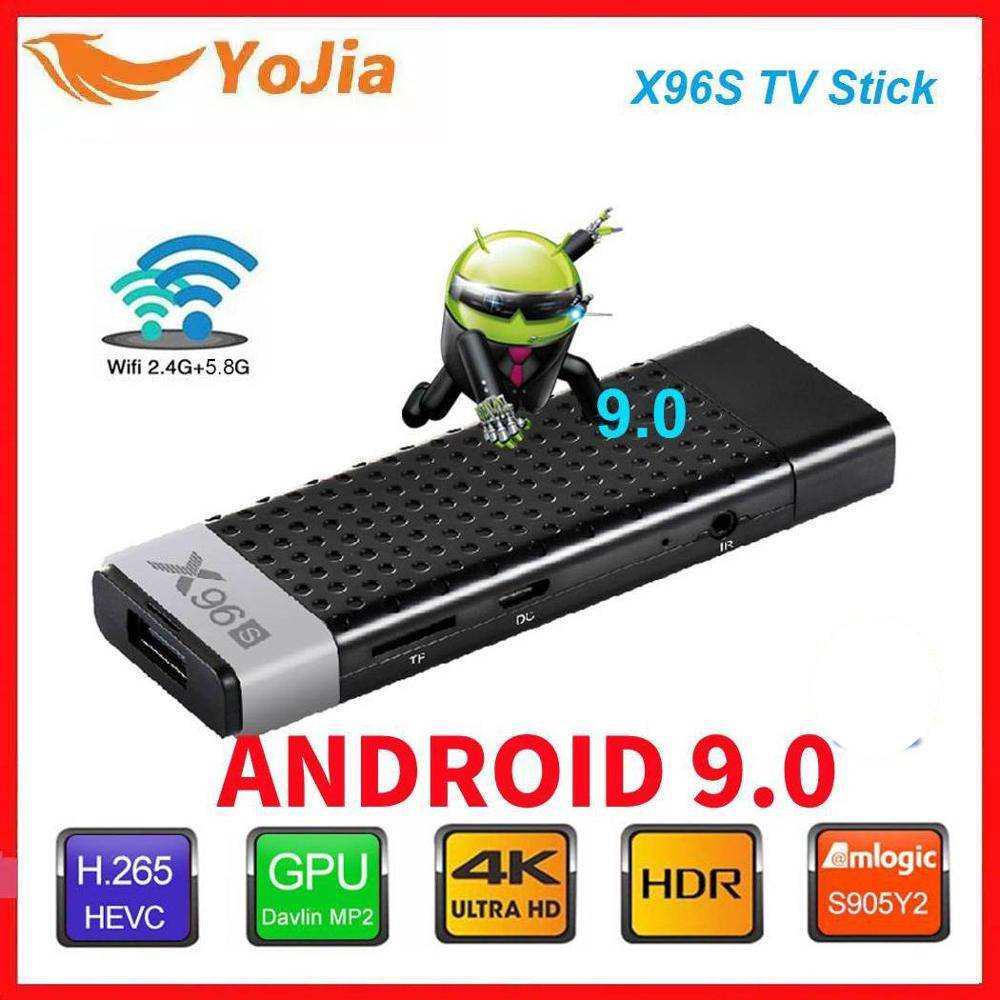 Smart TV Stick Android 9.0 TV Box X96S Amlogic S905Y2 DDR3 4GB 32GB X96 Mini PC 5G WiFi BT 4.2 TV Do