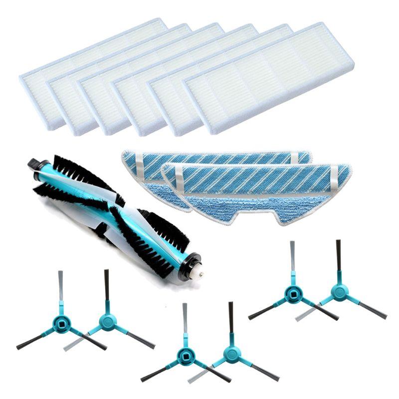 1 Set Staubsauger Ersatzteil Roller Pinsel Hepa-Filter Mopp für Conga 1290/1390 Hohe Qualität und Marke Neue