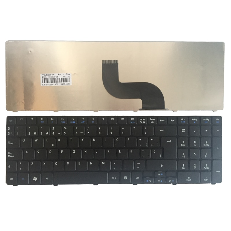Español teclado del ordenador portátil para Acer Aspire 5810 de 5536 de...