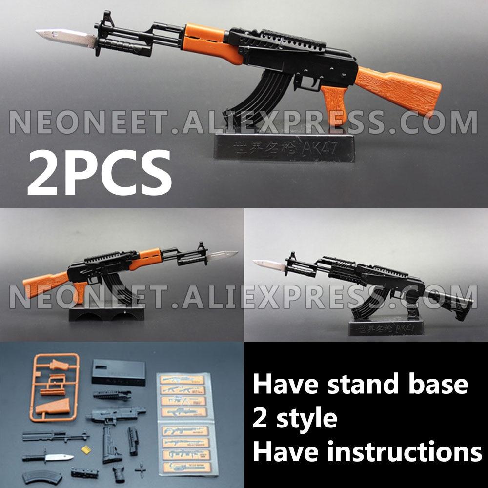 16 ensamblaje 4D arma modelo 1/6 Rifle de asalto máquina arma AK47 soldado arma plástico Granada lanzador presa juguetes BBI FLAGSET