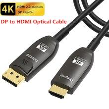 AOC DisplayPort к HDMI оптический кабель DP1.2 к HDMI2.0 кабель 4K @ 60Hz 3D ARC HDCP2.2/21,6 Гбит/с для ПК ноутбука HDTV проектор