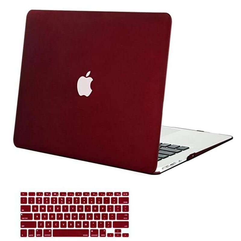 Para MacBook Air 13 pulgadas modelos de funda A1369 A1466, versión antigua 2010 2017, funda de plástico duro, funda para teclado