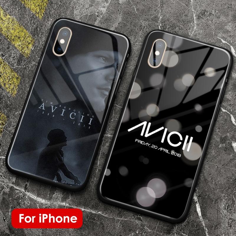 DJ Avicii Tim Bergling, R.I.P suave de silicona de vidrio de cubierta de la caja del teléfono shell para Apple iPhone 6 6s 7 7 Plus X XR XS 11 PRO MAX