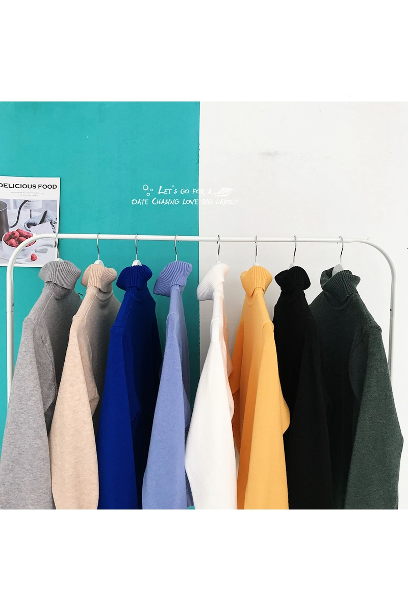 2019 Men's Fashion 9 Color Coats Knitting Loose Clothes Pullover Woolen Turtleneck In Warm Cashmere Sweater Plus Size S-2XL