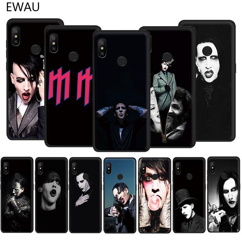 EWAU Marilyn Manson protector suave TPU funda de teléfono para Xiaomi Redmi 4A 4X5 5A 6 6A 7 7A Plus ir S2 K20 pro