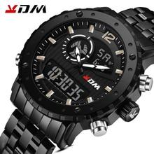 KDM Sport montre hommes horloge mâle LED numérique Quartz montres hommes étanche militaire numérique-montre pour homme Relogio Masculino