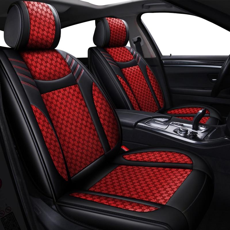 مجموعة كاملة من اغلفة مقاعد سيارات الدفع الرباعي لتويوتا كامري كورولا 2020 Prius Venza CHR Avalon RAV4 4 عداء يارس هايلكس تاكوما