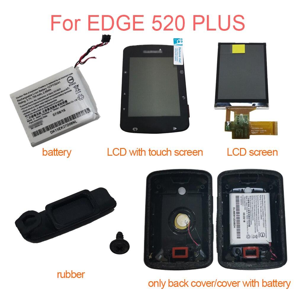 شاشة LCD لـ GARMIN EDGE 520 Plus EDGE 520 Plus ، مع شاشة تعمل باللمس/شاشة LCD/غطاء خلفي/بطارية/غطاء مطاطي ، إصلاح أجزاء